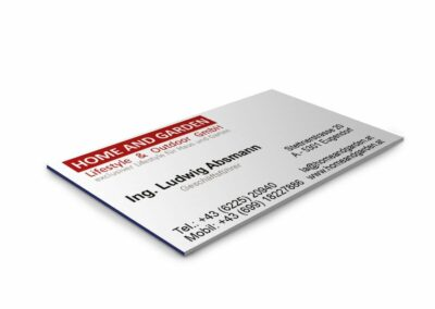 Visitenkarte Firma Lifestyle & Outdoor GmbH