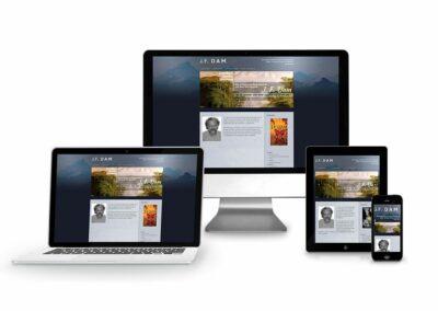 Webdesign Erstellung für Autor J.F. DAm