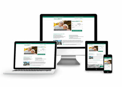 Homepage Erstellung für Versicherung LV1871