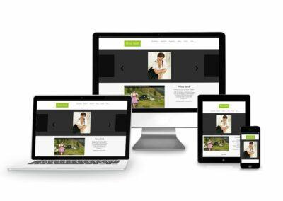 Homepage Erstellung für Künstlerin Petra Böck