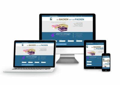 Webdesign Erstellung für Firma Kafowell