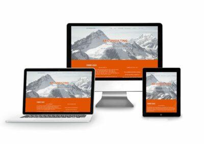 Landing Page Erstellung für Firma AR Consulting