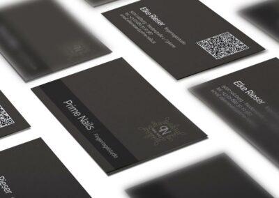 Visitenkarten Erstellung für Nagelstudio Rieser