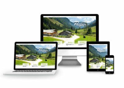 Homepage Erstellung für Palfnerhof, Palfneralm & Tankstelle