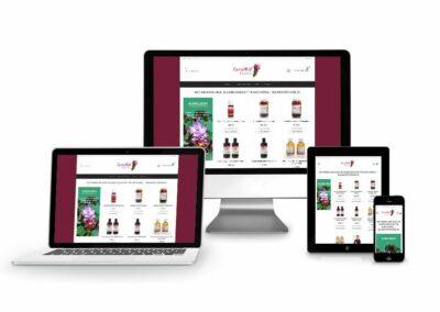 Webshop Erstellung für die Firma CurcuWid GmbH