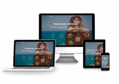 Webseiten Erstellung für Firma Travel Smart
