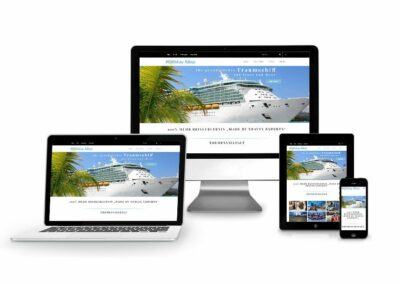 Webdesign Erstellung für Firma Holiday Shop