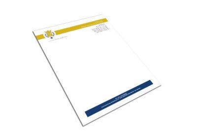 Briefpapier Design Erstellung für Firma Mietkoch Olivier