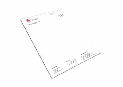 Briefpapier Design Erstellung für Firma Stoffstern