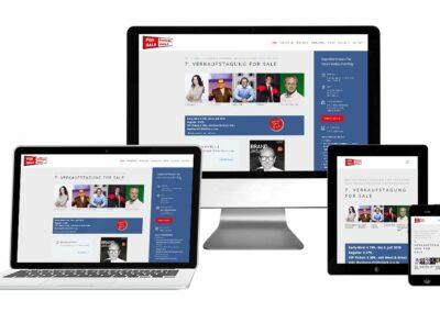 Homepage Erstellung für Forsale Fachtagung