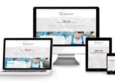 Homepage Erstellung für Tony-air