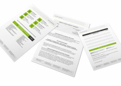 Drucksorten Design Erstellung für Green Clean Concept GmbH