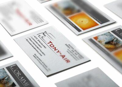 Visitenkarten Erstellung für Firma Tony Air GmbH