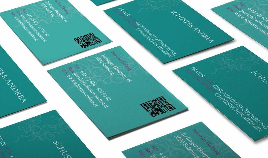 Visitenkarten Erstellung für Schuster Andrea