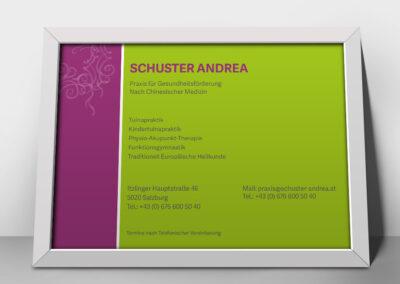 Acryl Schild Schuster Andrea