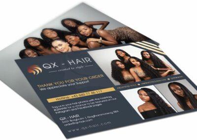 Flyer Erstellung für QX Hair