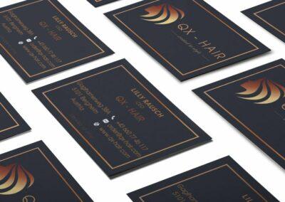 Visitenkarten Erstellung für QX Hair
