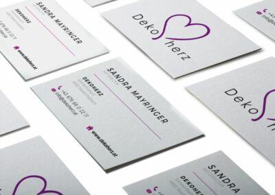 Visitenkarten Erstellung für Sandra Mayringer