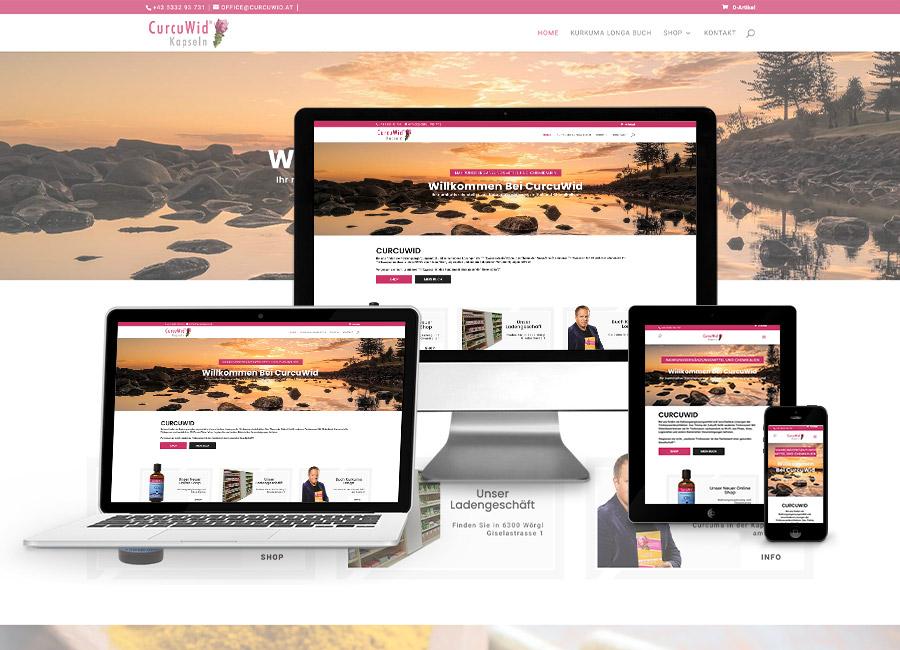 Webshop Erstellung für Curcuwid GmbH