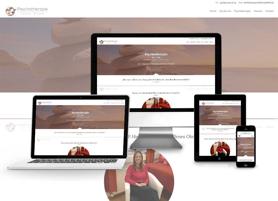 Homepage Erstellung für Psychotherapie Fink