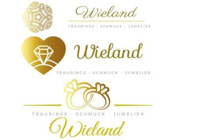 Logo Design Sets für Juwelier Wieland