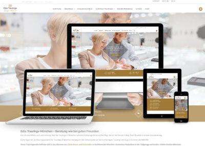 Onlineshop Erstellung für Juwelier Wieland