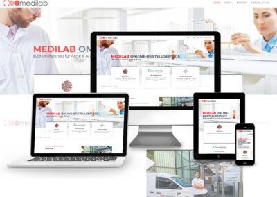 Onlineshop Erstellung für medilab