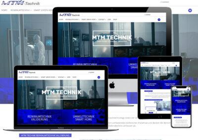 Onlineshop Erstellung für MTM Technik